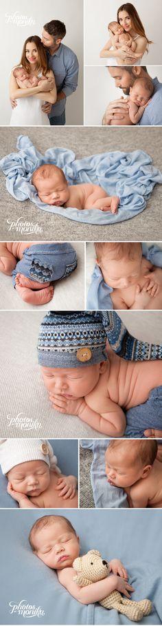 Mara Ferreira's baby boy. manhattan beach photographer Monika O'Deegan with Photos By Monika. newborn blue, grey, and white