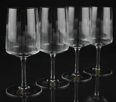 4 Vintage Weingläser Rotweingläser Weißweingläser Zwiesel Schliff 60er Jahre *K1