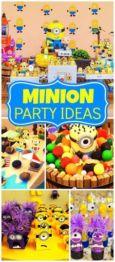 How fun is this Minion boy birthday party?! See more party ideas at CatchMyParty.com!
