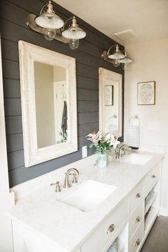 Bathroom Renovations, Home Renovation, Home Remodeling, Modern Bathroom Cabinets, Shiplap Master Bathroom, Bathroom Beadboard, Douche Design, Interior Minimalista, Diy Bathroom Decor