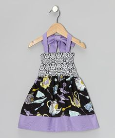 Take a look at this Lavender Tea Party Halter Dress - Infant, Toddler & Girls by Lilys Chic Baby Boutique on #zulily today!