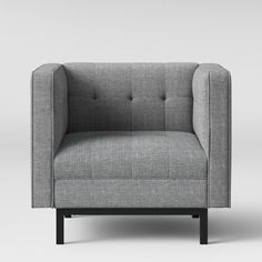 Cologne Tufted Track Arm Chair - Gray - Project 62™ : Target