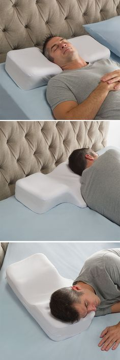 The Two Position Sleeper's Pillow - This is the pillow that provides proper spinal and neck alignment for people who sleep on both their back and side. Unlike other pillows that accommodate only one sleeping position, this pillow's unique shape ensures comfort and correct posture for those who shift positions over the course of the night.