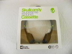 New Skullcandy Cassette Mic'd Headphones Removeable Speakers Lurker Toxic Flyer