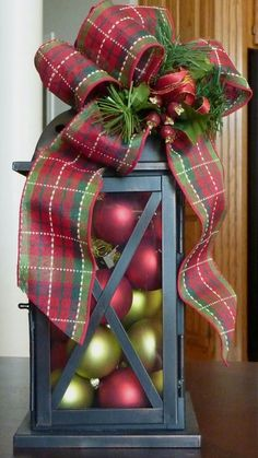 Looking for easy peasy Dollar Store Christmas Decor Ideas? Here is a wonderful collection of Dollar Store Christmas Decorating Ideas to help you out. Lantern Christmas Decor, Noel Christmas, Christmas Centerpieces, Outdoor Christmas, Rustic Christmas, Xmas Decorations, Winter Christmas, Christmas Wreaths, Vintage Christmas