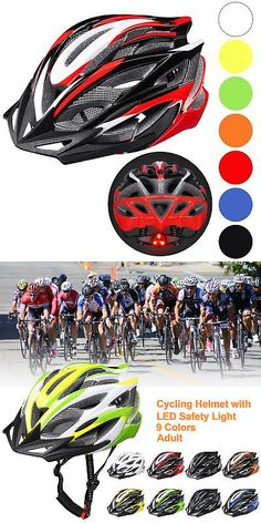 Helmets and Protective Gear 177864  Bicycle Helmet Bike Cycling Adult  Adjustable Safety Helmet Visor Led 04b75932b1