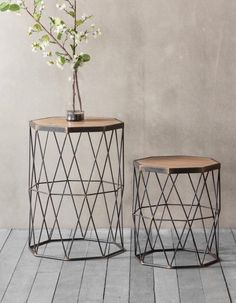 Set Of Two Wooden And Metal Side Table is part of Geometric side table A gorgeous set of two octagonal side tables in metal and wood These very stylish side tables come with a wooden top and metal - Side Coffee Table, Metal Side Table, Metal Tables, Metal Legs For Table, Metal Wood Coffee Table, Contemporary Side Tables, Modern Side Table, Wooden Table Top, Wooden Tops