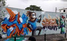 """tschelovek_graffiti: """"@karen.kueia  @denischis  #bemik  #diogobenicio нарисовали в Сан-Паулу. Photo by Vanessa Fernandes. #kueia #denischis #graffitisp #graffitisaopaulo #streetartsp #streetartbr #igersbrazil #ig_brazil #graffitibrazil #граффити_tschelovek #streetart #urbanart #graffiti #mural #стритарт #граффити #wallart #graffitiart #artederua #grafite #arteurbana #graffiticulture #graffitiwall #streetart_daily #streetarteverywhere"""""""