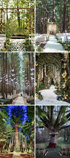 40 Inspiring Ideas to Have a Dreamy Woodland Wedding enchanted forest whimsical wedding ceremony ideas. ceremony forest 40 Inspiring Ideas to Have a Dreamy Woodland Wedding Wedding Ceremony Ideas, Romantic Wedding Receptions, Woodsy Wedding, Wedding In The Woods, Romantic Weddings, Wedding Colors, Whimsical Wedding Theme, Trendy Wedding, Wedding Ceremonies