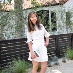 SHEIN Ruffle Cuff Guipure Lace Overlay Dress, Round Glasses ZAFUL (1)