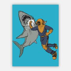 Shark Punch Poster 18x24, now featured on Fab.