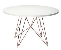 XZ3 Table - Round - Ø 120 cm White / Copper by Magis - Design furniture and decoration with Made in Design