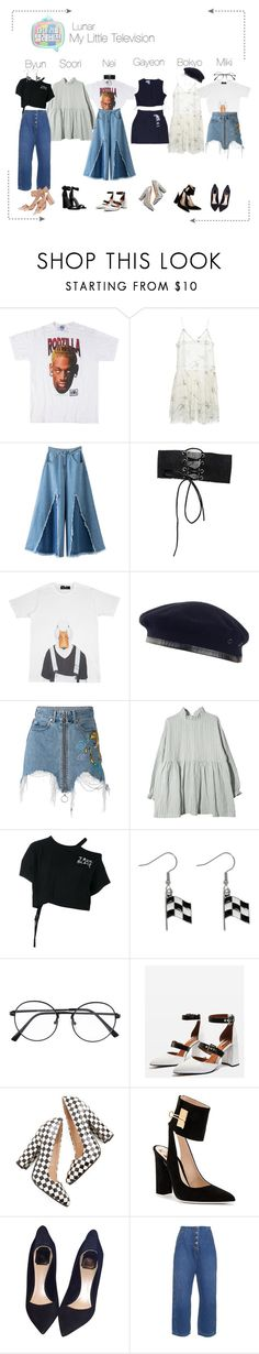 """Lunar (루나) My Little Television"" by lunar-official ❤ liked on Polyvore featuring Rochas, Lilou, Laulhere, County Of Milan, Ann Demeulemeester, Carolina Glamour Collection, Topshop, Off-White, Christian Dior and Rachel Comey"