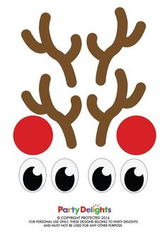 Stick these free printables on your Christmas presents for a fun Christmas gift wrapping idea! Simply wrap your presents in brown paper and stick on the eyes, nose and antlers to make it look like a reindeer!