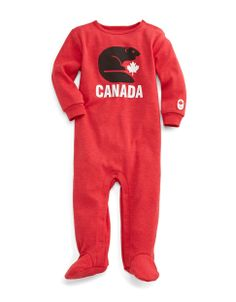 Sochi 2014 Canadian Olympic Team Collection | Sochi 2014 Infant Sleeper | Hudson's Bay #HBCOlympics