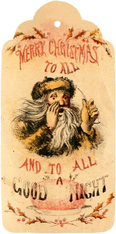 Wings of Whimsy: A Visit From St. Nicholas - 12 Printable Tags - free for personal use #vintage #victorian #bookpage #printables Free Printable Tags, Saint Nicholas, The Night Before Christmas, Victorian Christmas, Christmas Books, Merry, Printables, Wings, Vintage