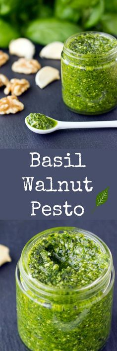Basil Walnut Pesto comes together in about 15 minutes with just 4 ingredients…