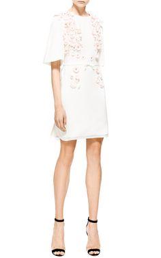 Giambattista Valli Viscose Cady Raglan Dress With Embroidery by Giambattista Valli for Preorder on Moda Operandi