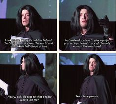 I waited all play for Joe Moses as Snape, and it was worth it. AVPSY