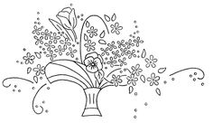 Vintage embroidery transfers in the public domain. Floral Embroidery Patterns, Learn Embroidery, Machine Embroidery Patterns, Hand Embroidery Designs, Vintage Embroidery, Ribbon Embroidery, Embroidery Art, Embroidery Stitches, Embroidery Sampler