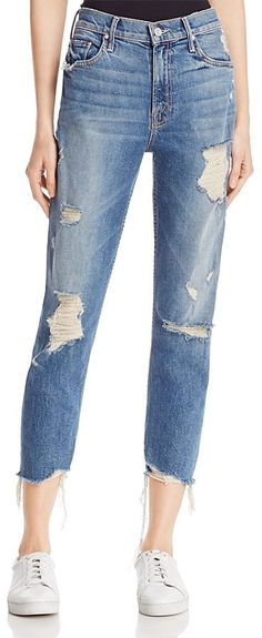 Distressed Sinner Jeans in Ice Cream, You Scream by Mother on ShopStyle.