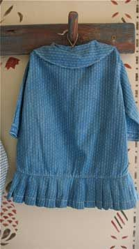 EARLY CHILD'S CALICO DRESS.