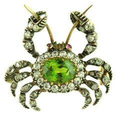 Crab Brooch, circa 1900, England.