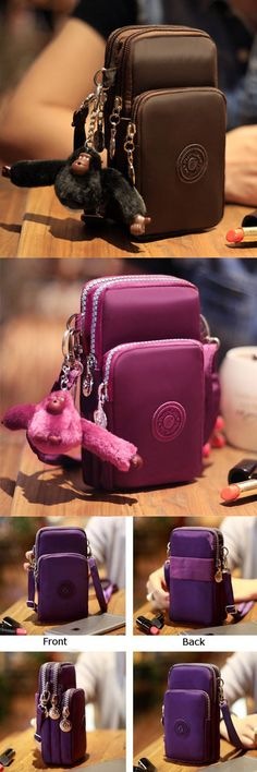 US$11.99+Free shipping. Shoulder Bag, Wrist Bag, Phone Bag. Waterproof Nylon Fabric, Smooth&Soft, Excellent&Durable. Small body with large capacity. It has three layers for you to carry smartphone, earphone, money, key and makeup, etc.