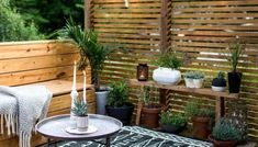 Small outdoor spaces suffer the same fate as indoor rooms— where to put all the clutter? Outdoor furniture cushions, lamps, and pillows all need a place to live when you're not using them. Large Backyard Landscaping, Backyard Ideas, Patio Ideas, Landscaping Ideas, Garden Ideas, Fence Ideas, Small Patio Design, Patio Grande, Outdoor Rugs
