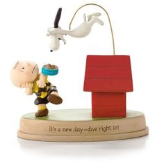 Hallmark Peanuts New Day for Charlie Brown and Snoopy Figurine