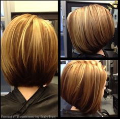 By Staiy Tran.would want the back longer! Hair And Makeup Tips, Hair Makeup, Pretty Hairstyles, Bob Hairstyles, Hairstyle Ideas, Short Hair Cuts, Short Hair Styles, Haircut And Color, Hair Affair