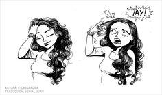 11 Cómics que entenderá cada chica de cabello largo