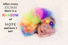 Rainbow tulle tutu matching headband newborn photo by BBMCreations