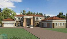 A Luxury 5 Bedroom Double Storey House Plans For Sale House Plans For Sale, Unique House Plans, Modern House Floor Plans, House Plans With Photos, Contemporary House Plans, Luxury House Plans, 6 Bedroom House Plans, 4 Bedroom House Designs, Garage House Plans
