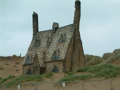 Dreamy Cutch. Shell house.  (For Harry Potter film set on Freshwater West Beach back home in Wales)
