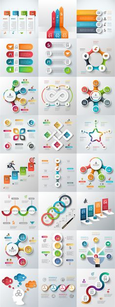 Infographic elements bundle - Awesome infographic elements and presentation template bundle. Perfect for startups and other busin - Diagram Design, Graph Design, Flow Chart Design, Infographic Powerpoint, Infographic Templates, Process Infographic, Presentation Layout, Presentation Templates, Web Design