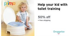 """Help me drop the price of the PRIMO 4-in-1 Toilet Trainer to $15.00 (50% off). The price continues dropping as more moms click """"Drop the price"""". Moms drop prices of kids & baby products by sharing them with each other."""