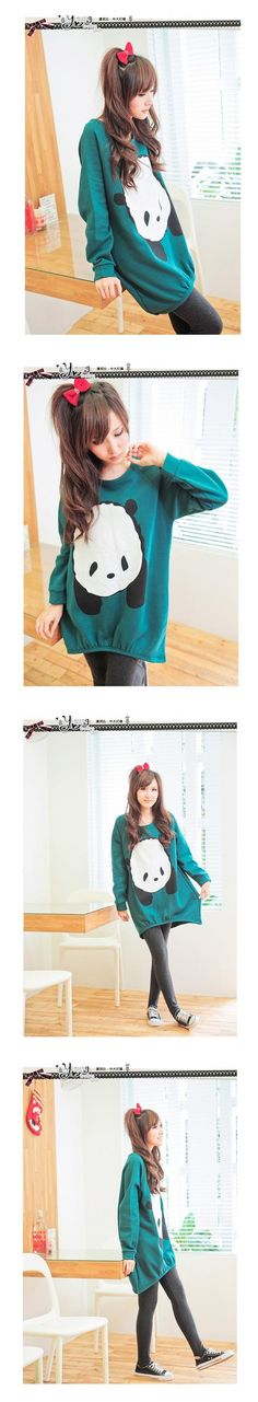 Oversize Panda Sweatshirt >> I would wear this around the house and to bed.