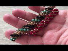 Diy Jewelry, Beaded Jewelry, Jewelery, Beading Tutorials, Beading Patterns, Seed Bead Necklace, Beaded Necklace, Handmade Bracelets, Bangle Bracelets