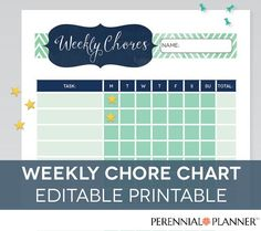 Printable Reward Charts For Kids 6 to 12 Years Old Weekly Chore Charts, Printable Reward Charts, Weekly Chores, Reward Chart Kids, Chore Checklist, Summer Checklist, Chore List For Kids, Chore Board, Family Schedule