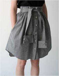 Top 10 DIY Refashioning Of A Men's Dress Shirt