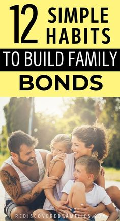 Strong family bonds are the secret to a happier family. We've identified 12 simple habits that are guaranteed to build those family connections. Includes an epic list of 101 family bonding activities to help you spend quality time with your kids. Click over to discover how to make strong connections with your family. Parenting Toddlers, Parenting Hacks, Positive Parenting Solutions, Bonding Activities, Strong Family, Families Are Forever, Family Bonding, Positive Discipline, Quality Time