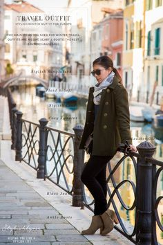 We love this image that helps you pick out all of the parts to an essential winter traveling outfit! Check out more tips about winter travel outfits at www.travelfashiongirl.com