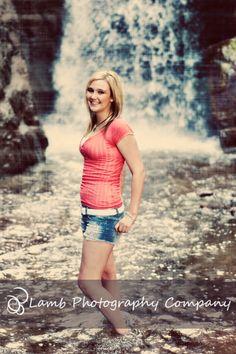 senior pics waterfall