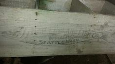 """Old """"New England Fish Company """" crate I found in a barn"""