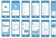Mobile Wireframe Kit PSD wireframe mockup free template