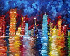 """City Nights"" by Madart via etsy.com"