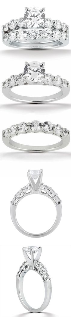 Sensational!! Taryn Collection: 18 Karat White Gold Diamond Engagement Ring TQD A-4741 for about $2,415