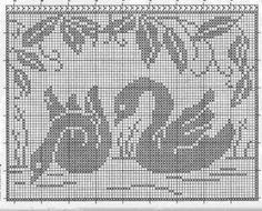 Kira scheme crochet: Labudovi