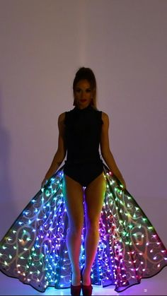 Repin this idea of a custom made LED outfit. Contact to order: Sales@etereshop.com | Check out more at ETEREshop.com | led dress outfit | glow in the dark dress neon | programmable dress | light up dress costume | led costume women | led dress costume | glow in the dark dress black lights | programmable outfit | elsa light up dress | glow in the dark dress neon | programmable dress | light up dress girls | led dress diy | led dress etsy | glow in the dark dress gowns | light up dress diy Lit Outfits, Dance Outfits, Dress Outfits, Fashion Dresses, Led Costume, Costume Dress, Led Dress, Dress Up, Girls Dresses